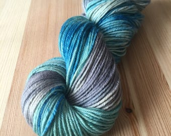 Moraine Lake worsted weight hand dyed self-striping yarn limited time sale
