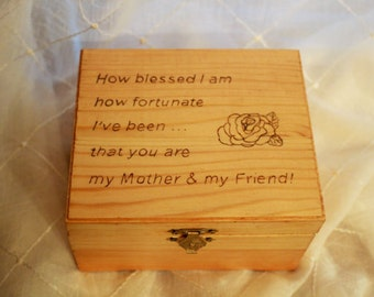 Wooden Box; Trinket Box; Jewelry Wood Box; Treasure Box; Memory Box; Keepsake Box; Birthday Gift; Birthday Gift; Gift for Her