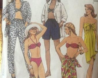 Gorgeous Cruise Wear Pattern---McCalls 6030---Pareo, Bikini, Pants, Shirt, Shorts, Bra Top
