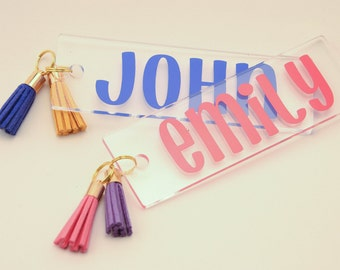 Personalized Acrylic Bookmark