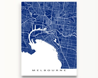 Melbourne Map Print, Melbourne Art, Melbourne Australia, City Map Art