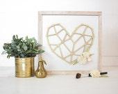 Geometric Heart | DIY Pocket Insert Kit | Frame Not Included