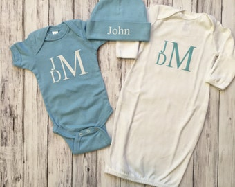 Boy Coming Home Outfit // Baby Shower Gift // Baby Boy Clothes // Baby Boy Outfit // Take Home Outfit // Newboy Boy // Baby Boy Gift // Boy