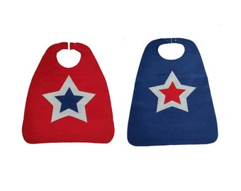 Patriotic cape for Memorial Day or 4th of July - kids party favor or gift - childrens cape for birthday - dress up outfit - Independence Day