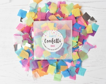 Rainbow Bright/Multicolour Party Confetti Bag