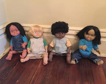 Vintage Marvel Education Multi Race Dolls/ Educational Dolls/It's a Small World