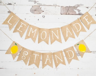 Lemonade Sales Sign, Lemonade Stand Banner, Lemonade Stand Decoration, Summer Lemonade Party Banner, Lemon Decor B508