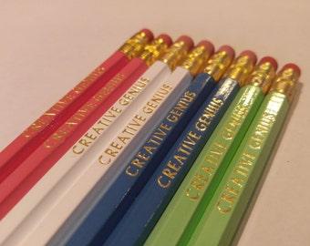 Creative Genius Pencils | Fun pencils | Hexagon Pencils | USA Made | Motivational Pencils | Nerd Pencils | Non toxic |