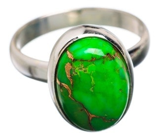 Green Turquoise Stone ring,  Copper Ring, Copper Turquoise Ring, Sterling Silver Ring, Green Turquoise ring,US Size 5 6 7 8 9 10 11 12 13 14