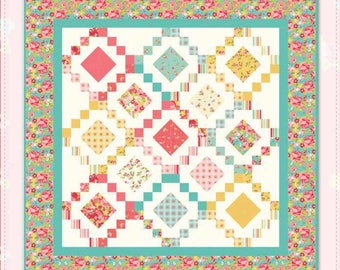 "Gorgeous Quilt Kit Hello Gorgeous by My Minds Eye For Riley Blake Designs -Finished Size 64"" x 64"""