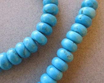 Turquoise Stone Beads (11x6mm) [65645]