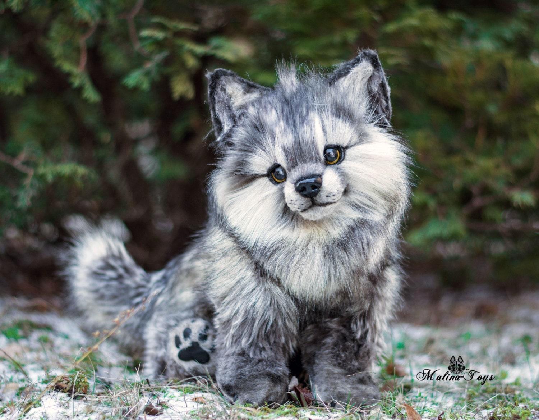 Custom Order Poseable Wolf Cub 100 Handmade Ooak Dolls