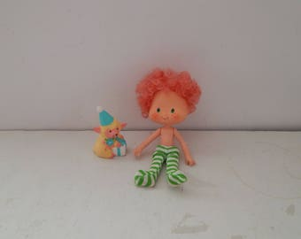 Vintage Strawberry Shortcake Party Pleaser Doll Peach Blush with Her Pet Melonie Bell Kenner 1980s