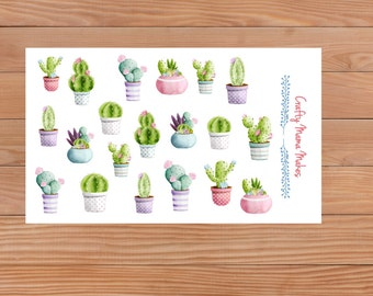 Cactus and Succulents - Planners - Diary - Stickers - Happy Planner - Erin Condren - Filofax etc