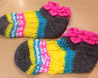 Free Spirit Socks w/Crocodile Stitch