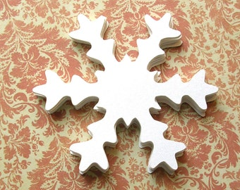 Die Cut Shimmer Large Snowflakes - Set of 20 - Christmas Snowflakes - 3 Inch Large Confetti Snowflakes - DIY Christmas Decor