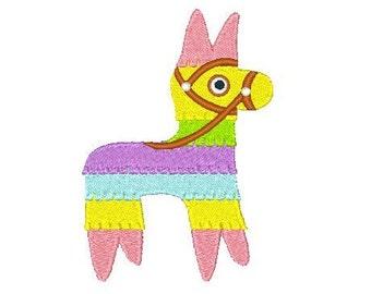 Pinata Machine Embroidery Design , Fiesta Fun, Mexican Donkey Pinata Machine Embroidery Design No: JG00035-12