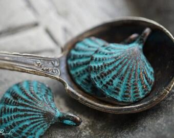 last ones..MyKonos Shell Charms, MyKonos Beads, Patina Beads