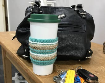 Crochet coffee cup cosy