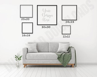 square photo mockup size chart frame sizes blank picture frames livingroom