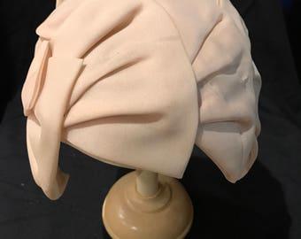 Chiffon ivory hat