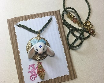 Bunny Necklace Blue 2