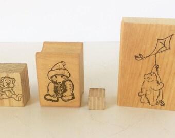 Bear Stamp, Bear Stamp Set, Rubber Stamp