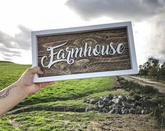 Framed Farmhouse Lasercut Barnwood Wall Decor