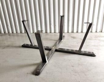 Quad X Raw Steel Tube Metal Coffee Table Legs Base