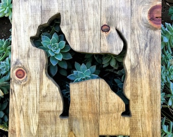 Wooden Dog Sign - Chihuahua