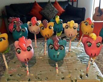 One dozen My Little Pony cake pops