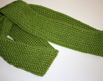 Fresh grass green infinity scarf