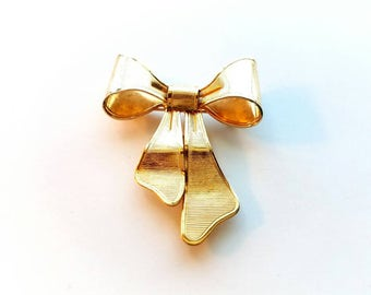 RARE Vintage Avon 1980 Gold Bow Pin, Brooch and Pendant