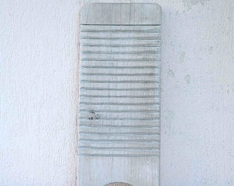 Vintage French wooden washboard