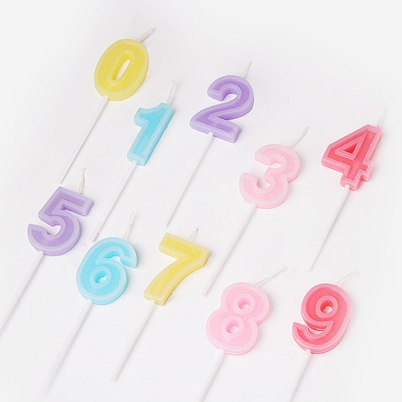 Pastel Birthday Candle / Number Candles / Birthday Cake
