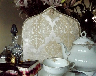 New in our Palazzo Collection: Luxurious Golden Baroque Style Tea Cosy, luxe theemuts, Luxus Teemütze