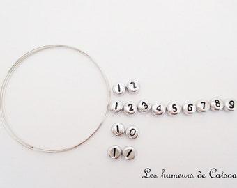 Kit for nursing bracelet white or silver + wire