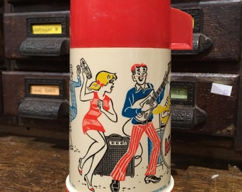 Vintage 1969 Plastic Archie Thermos By Aladdin