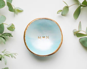 Personalized Blue Ombré // Coloured Classic Jewelry Dish