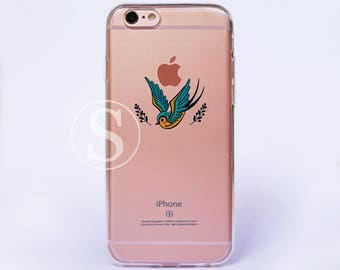 Clear phone case, Swallow iPhone7 Case, Clear iPhone 6s Plus Case, iPhone 6 Case, Clear iPhone 7 Plus Case, Clear iPhone 6s Case, SA-45