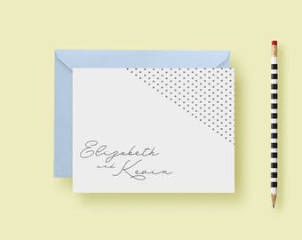 Dotted Simple Elegant Stationery, Personlized Notes, Thank You Notes, Birthday Gift, Personalized Gift, Printable or Printed