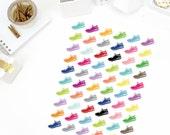 Colorful Sneaker Stickers! Perfect for your Erin Condren Life Planner, calendar, Paper Plum, Filofax!