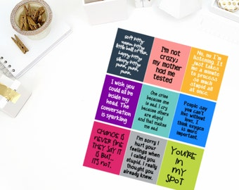 Big Bang Theory Quote Stickers! Perfect for your Erin Condren Life Planner, calendar, Paper Plum, Filofax!