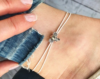 Elephant anklet, silver anklets, silver elephant ankle bracelet, charm anklet by Serenity Project. Perfect animal lover gift or travel gift.