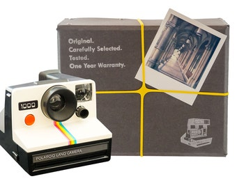 Polaroid Camera Package - One Step | Incl. Camera, Film, Manual & 1 Year Warranty