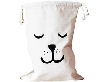 Ecofriendly canvas storage bag for toys