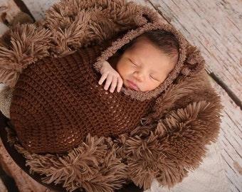 Crochet Baby Bear Cocoon