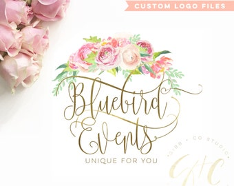Affordable Customized Logo - Branding - photography logo - event logo - design - wedding monogram - floral logo - BL201E
