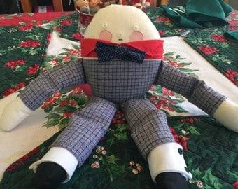 Humpty Dumpty Stuffed Cloth Doll