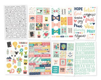 Faith Stickers - Simple Stories for Bible Journaling, found at ByTheWell4God